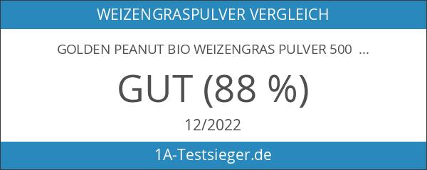 Golden Peanut Bio Weizengras Pulver 500 g Dose