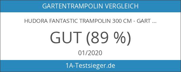 HUDORA Fantastic Trampolin 300 cm - Gartentrampolin mit Sicherheitsnetz -