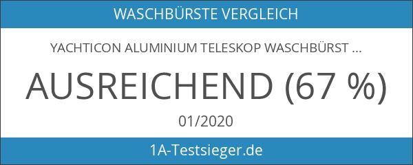Yachticon Aluminium Teleskop Waschbürste Deluxe mit Wasserdurchlauf 90-175cm