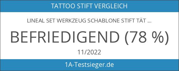 Lineal Set Werkzeug Schablone Stift Tätowierung Maß Chirurgische Haut Marker