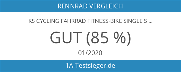 KS Cycling Fahrrad Fitness-Bike Single Speed Essence