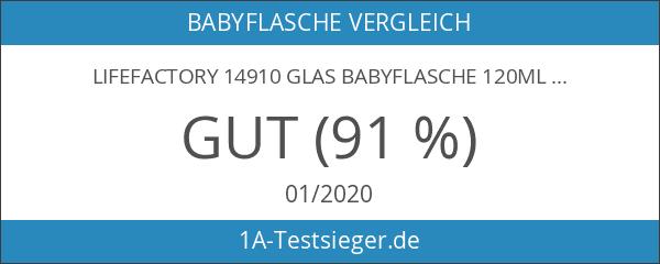 Lifefactory 14910 Glas Babyflasche 120ml inkl. Silikonmantel