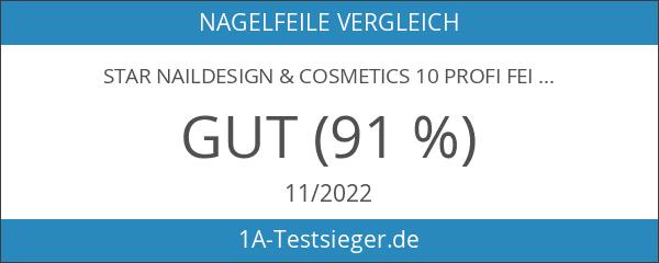 Star Naildesign & Cosmetics 10 Profi Feilen weiß gerade 180