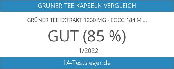 Grüner Tee Extrakt 1260 mg - EGCG 184 mg -