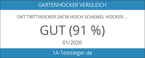 OKT Tritthocker 24cm hoch Schemel Hocker Tritt bis 150 kg