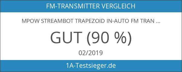 MPOW Streambot Trapezoid In-Auto FM Transmitter Radio Adapter für Apple