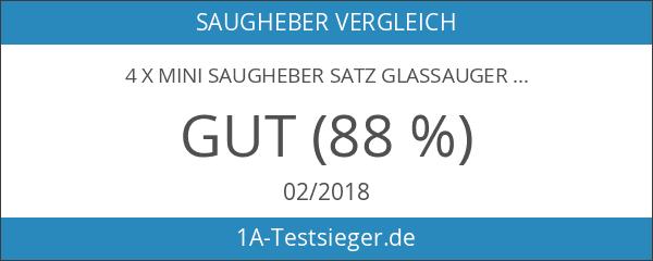 4 x Mini Saugheber Satz Glassauger
