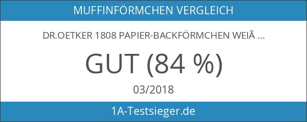 Dr.Oetker 1808 Papier-Backförmchen weiß