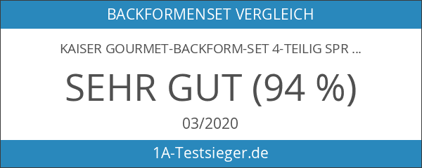 Kaiser Gourmet-Backform-Set 4-teilig Springform