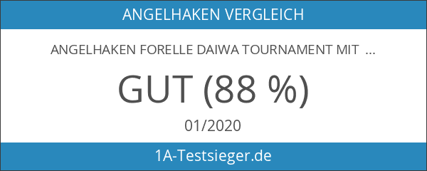 Angelhaken Forelle Daiwa Tournament mit 60 cm Vorfach