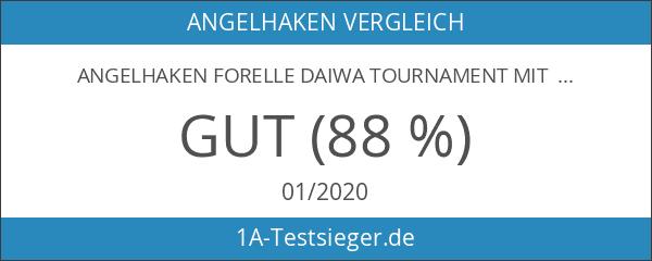 Angelhaken Forelle Daiwa Tournament mit 60 cm Vorfach