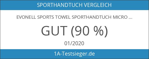 Evonell Sports Towel Sporthandtuch Microfaser verschiedene Größen und Farben