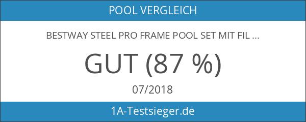 Bestway Steel Pro Frame Pool Set mit Filterpumpe