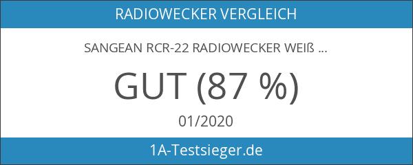 Sangean RCR-22 Radiowecker weiß