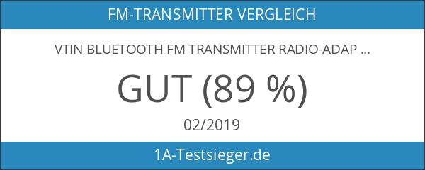 VTIN Bluetooth FM Transmitter Radio-Adapter Universal KFZ Auto MP3 Player
