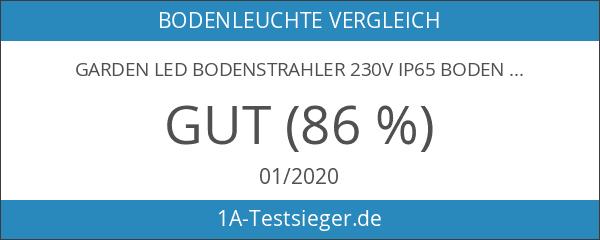 GARDEN LED Bodenstrahler 230V IP65 Bodenleuchte Gartenstrahler Teichstrahler mit LED