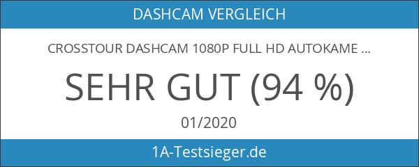 Crosstour Dashcam 1080P Full HD Autokamera Vorne und Hinten Dual