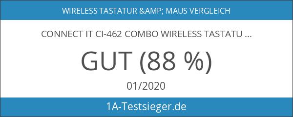 Connect IT CI-462 COMBO Wireless Tastatur-Maus-Set schwarz