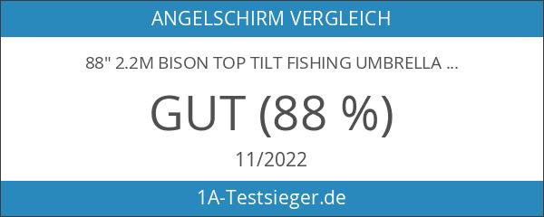 """88"""" 2.2m BISON TOP TILT FISHING UMBRELLA BROLLY SHELTER"""