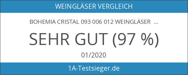Bohemia Cristal 093 006 012 Weingläser ca. 350 ml aus