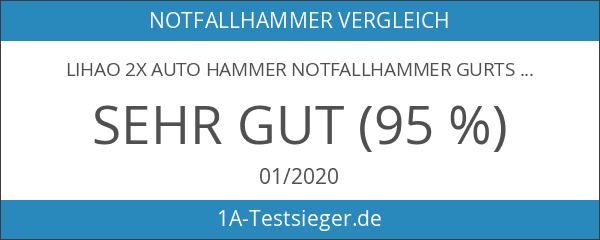 LIHAO 2x Auto Hammer Notfallhammer Gurtschneider Fenster Nothammer