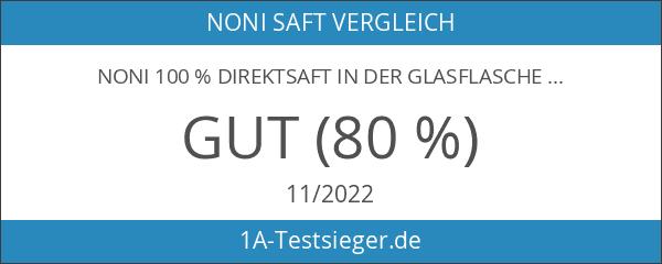 Noni 100 % Direktsaft in der Glasflasche aus der Südsee