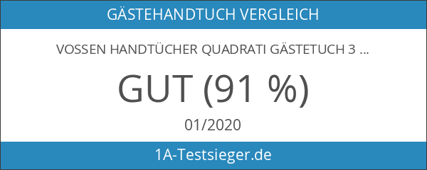 Vossen Handtücher Quadrati Gästetuch 30x50 cm