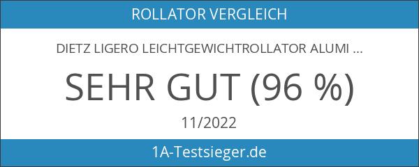 Dietz Ligero Leichtgewichtrollator Aluminium Rollator Korb PU Bereifung Sitzhöhe 56