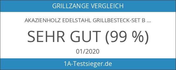 Akazienholz Edelstahl Grillbesteck-Set Barney Barbecue 3 tlg. von Springlane Selection