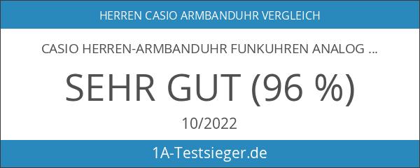 Casio Herren-Armbanduhr Funkuhren Analog - Digital Quarz Edelstahl WVA-M650D-2AER