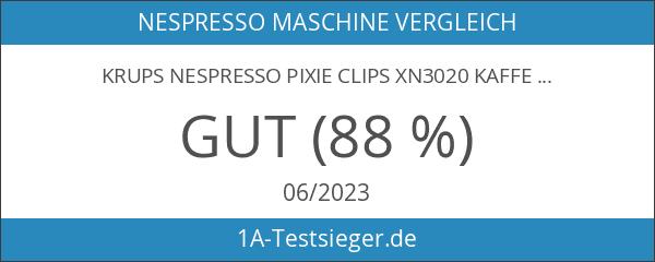 Krups Nespresso Pixie Clips XN3020 Kaffeekapselmaschine schwarz und electric lemon