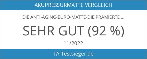 Die Anti-Aging-Euro-Matte-Die prämierte Akupressurmatte mit dem 1. Platz auf Vergleich.org