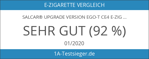 Salcar® Upgrade Version eGo-T CE4 E-Zigarette im Doppel-Starterset und Premium