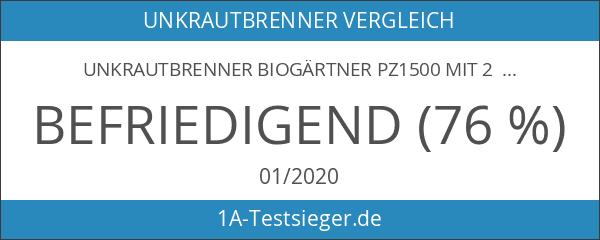 Unkrautbrenner Biogärtner PZ1500 mit 2 Gasflaschen