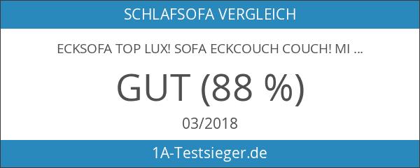 Ecksofa Top Lux! Sofa Eckcouch Couch! mit Schlaffunktion und zwei