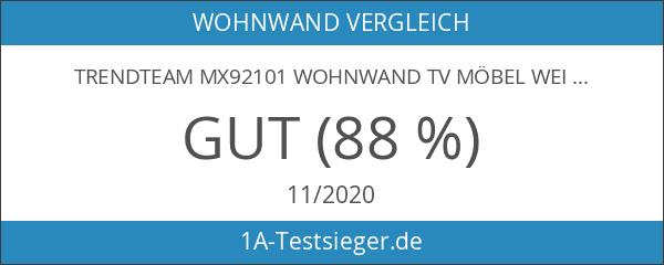 trendteam MX92101 Wohnwand TV Möbel weiss Hochglanz