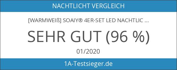 [Warmweiß] SOAIY® 4er-Set LED Nachtlicht 0