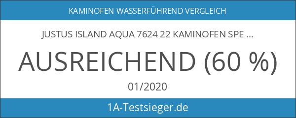 Justus Island Aqua 7624 22 Kaminofen Speckstein Gussgrau wasserführend 10kW