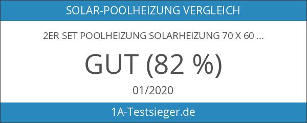 2er Set Poolheizung Solarheizung 70 x 600 cm Solar Pool
