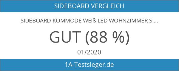 Sideboard Kommode Weiß LED Wohnzimmer Schlafzimmer Hochglanz Modern Elegant