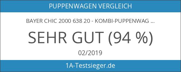 Bayer Chic 2000 638 20 - Kombi-Puppenwagen 2-in-1 Emotion