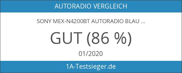 Sony MEX-N4200BT Autoradio blau
