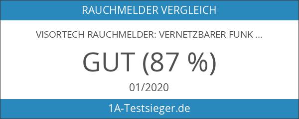 VisorTech Rauchmelder: Vernetzbarer Funk-Hitze- & Rauchwarnmelder RWM-460.f
