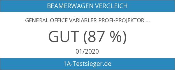 General Office Variabler Profi-Projektor-Wagen mit 2 Ablage-Ebenen