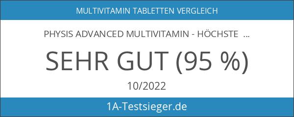 PHYSIS ADVANCED MULTIVITAMIN - Höchste Multivitamin-Komplex Lösung - 120 Tabletten