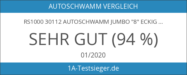 "RS1000 30112 Autoschwamm Jumbo ""8"" eckig"