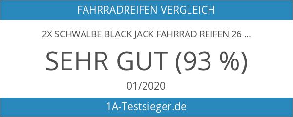 "2x Schwalbe Black Jack Fahrrad Reifen 26"" 26 x 2"