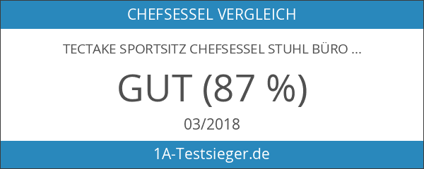 TecTake Sportsitz Chefsessel Stuhl Bürostuhl Racing Schalensitz - diverse Farben