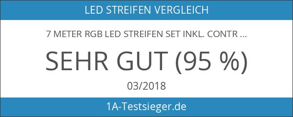 7 Meter RGB LED Streifen Set inkl. Controller