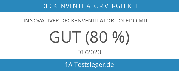 innovativer Deckenventilator Toledo mit Wandschalter